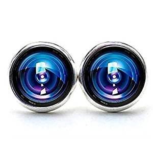 Kamera Objektiv Eye Ohrringe Kamera die Ohrstecker Kamera Ohrringe Schmuck Geburtstag Geschenk