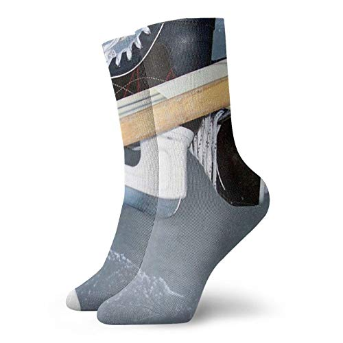 Hockey Sports Skates Sticks Ice Unisex Short socks Moisture Wicking Socks Fun Funky Personalized Casual Socks The best choice for Clothing collocation and gifts