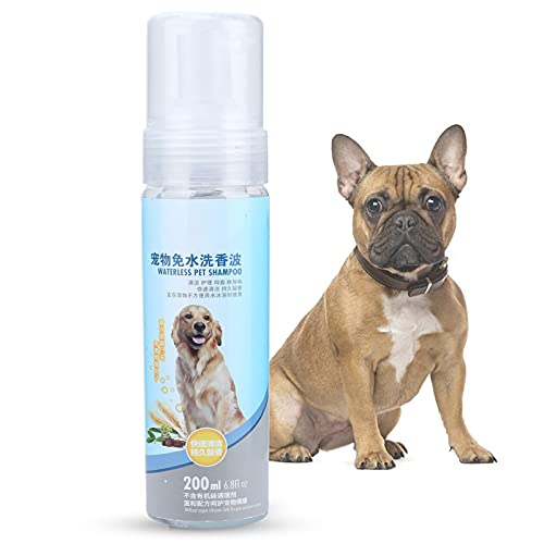 Vcriczk Champú para Mascotas, diseño de Cabezal de rociado Equilibrio Valor de pH para Mascotas Suministros para el Cuidado del Perro Mascotas Champú sin Enjuague para Mascotas Champú en Aerosol