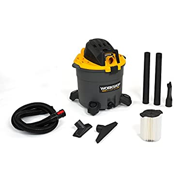 WORKSHOP Wet Dry Vac WS1600VA High Capacity Wet Dry Vacuum Cleaner, 16-Gallon Shop Vacuum Cleaner, 6.5 Peak HP Wet And Dry Vacuum