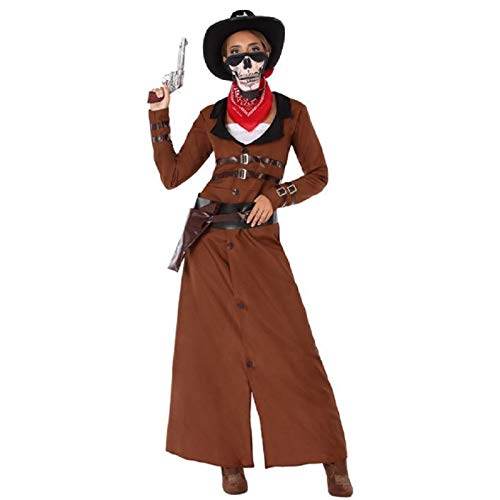 Atosa-61442 Atosa-61442-Disfraz Vaquera-Adulto Mujer, Color marrón, XL (61442 , color/modelo surtido