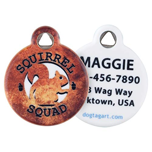 Dog Tag Art Squirrel Squad Pet ID Tag for Dogs and Cats Small Size