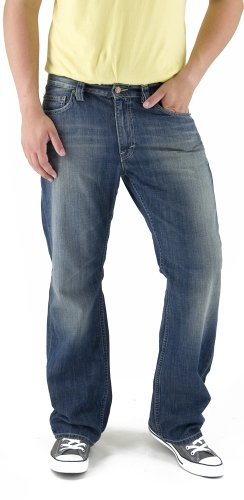 MUSTANG Jeans Herren Jeans Boot Cut 3173-5360-576, Gr. 30/34, Blau (dirty washed)