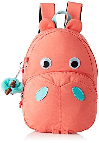 Kipling Hippo - Zaino per la scuola, 28 cm, Peachy Pink C (Rosa) - KI283751P
