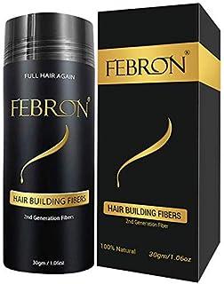 FEBRON Hair Fibers For Thinning Hair MEDIUM BROWN Giant 30G For Women & Men Hair Loss Concealer Hair Powder Volumizing Based 100% Undetectable & Natural - Bold Spots Filler