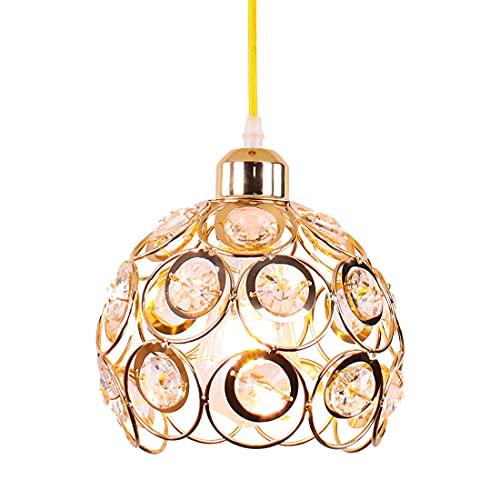 Lámpara colgante de cristal Lámpara colgante de metal Lámpara de araña de...