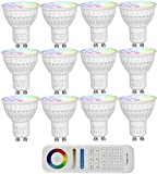 LIGHTEU, MiLight LED-Spots und Fernbedienung kabellose Steuerung 2,4GHz, RF, Touch-Panel 4W GU10 12...