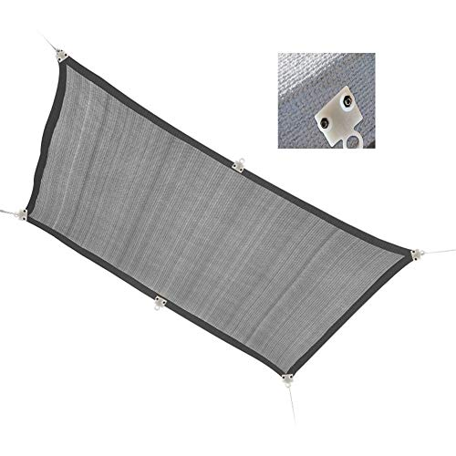 Sonnenschutznetz AGYH Grau Schattiernetz, Perfekte Außenschattierungs Isolierung Sonnenschutz-, Verschlüsselt Geflecht, Mit PorenBefestigungsSchnalle Und Zugband (Size : 3x5m)
