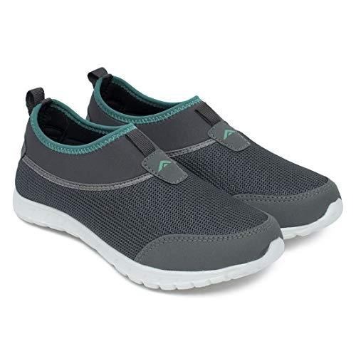 ASIAN Riya-51 Grey Green Sports Shoes,Walking Shoes,Running Shoes,Gym Shoes for Women UK-5