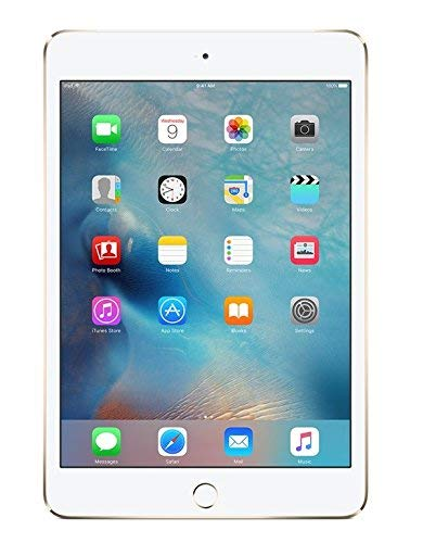 Apple iPad Mini 4 32GB Wi-Fi + Cellular - Gold - Unlocked (Renewed)