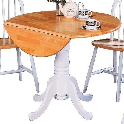 Our #4 Pick is the Coaster Home Furnishings Damen Round Pedestal Drop Leaf Table
