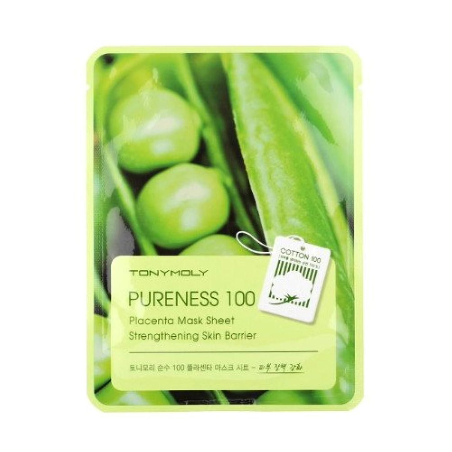 アーチ提案状態(3 Pack) TONYMOLY Pureness 100 Placenta Mask Sheet Strengthening Skin Barrier (並行輸入品)