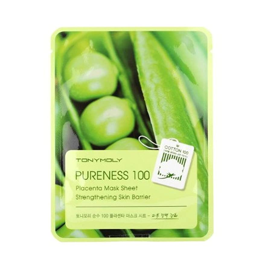 アピールディレクトリ薄汚い(3 Pack) TONYMOLY Pureness 100 Placenta Mask Sheet Strengthening Skin Barrier (並行輸入品)