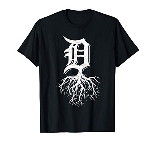 Detroit Roots Michigan American Born Rooted American Gifts T-Shirt