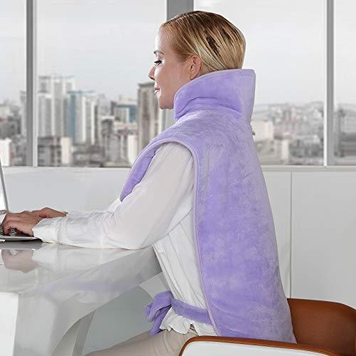Heizkissen für Rücken Nacken und Schultern, 6 Stufen Temperatur Waschbar mit 1.5H Abschaltautomatik und schneller...