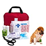 AUTOECHO Pet Erste-Hilfe Set, Medizinisch Überlebens Kompakt Kit mit, PVC Oxford Tuch Pet Outdoor Camping Verbandskasten für Hunde & Katzen, Pet Verbandskasten Box