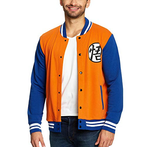 Dragon Ball Z College Jacke Goku Elbenwald orange blau - L