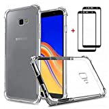 Samsung Galaxy j4 plus/j4+ Case Clear [2* Free Tempered