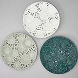 Henriette Centro de mesa de porcelana gris Kyoto diám. 35,5 mm D17363