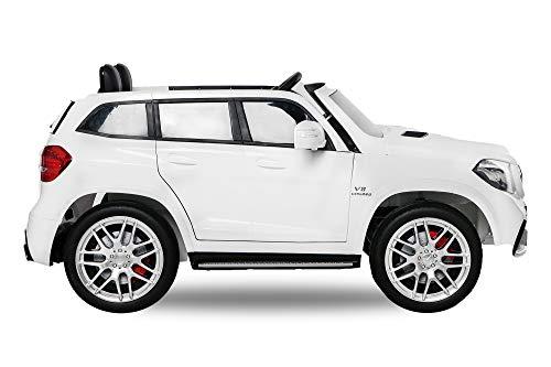 RC Auto kaufen Kinderauto Bild 3: Nitro-Motors 2-SITZER Kinderauto Mercedes GLS63 AMG 2x35W Elektroauto Kinderfahrzeug GLS GLE (Weiss)*