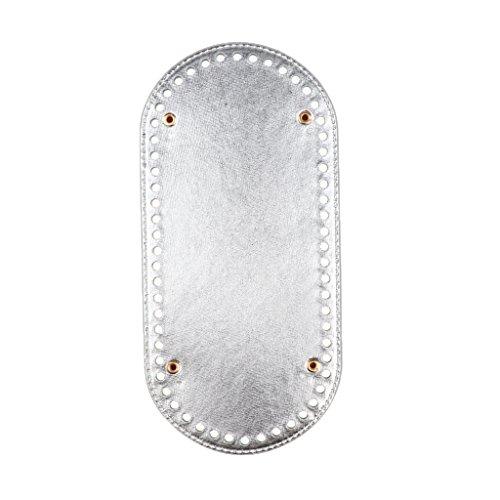 Damen Handtaschen Zubehör Bag Shaper Baseshaper Taschenboden für Schultertasche Umhängetasche Tote - Silber, 25x12x0,4 cm