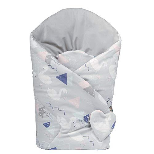 Sevira Kids - Gigoteuse d'emmaillotage réversible en coton - Cygnes