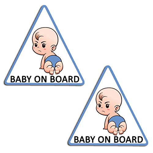 Vinyl baby aan boord kinderen in de auto blauw sticker sticker sticker auto moto motorfiets fiets helm raam tuning B 174