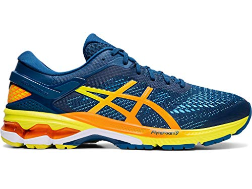 ASICS Men's Gel-Kayano 26 Running Shoes, 11.5M, Mako Blue/Sour Yuzu