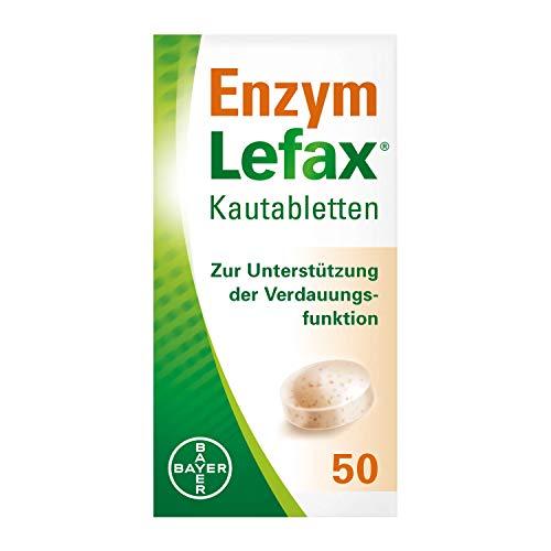 Lefax Enzym Kautabletten zur Unterstützung der Verdauungsfunktion und Linderung von Blähungen, 50 Stück
