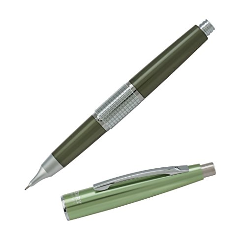 Pentel Sharp Kerry Mechanical Pencil, 0.5mm, Metallic Olive Barrel, 1 pack (P1035K)