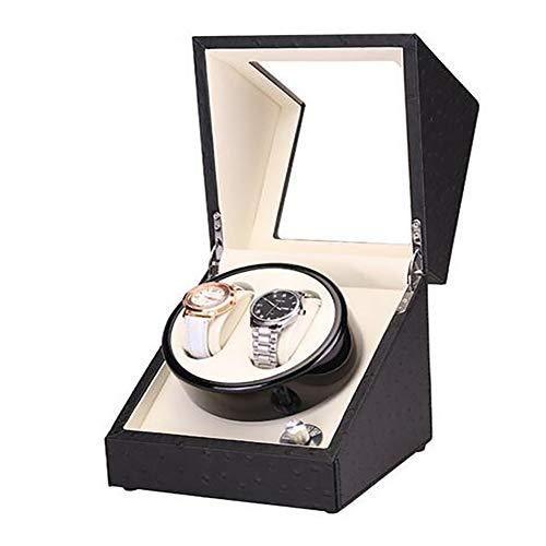 LITI Enrollador automático de Relojes, Caja de Reloj Enrollador de Reloj Silenciador para Relojes Almacenamiento de Tocadiscos de Reloj Funcionamiento de batería o Fuente de alimentación,B