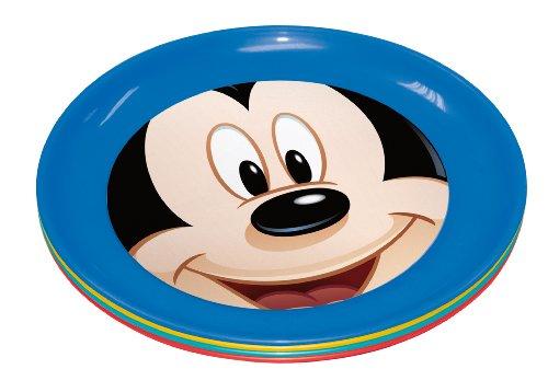 Joy Toy 734079 Minnie Lot de 4 assiettes en plastique 20 cm