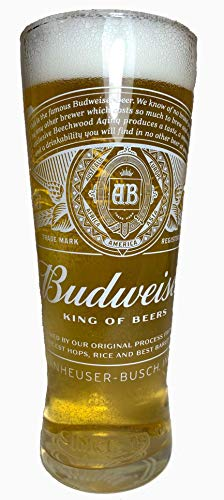 Tuff Luv Original Verre à Bière Budweiser de Marque - Verre Chalice Pinte (570 ML - 20 oz)