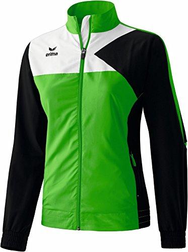 erima Damen Anzug Premium One Präsentationsjacke, Green/Schwarz/Weiß, 46