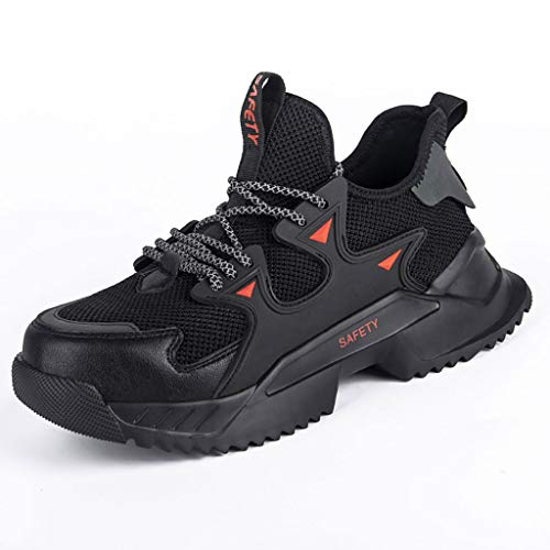 WggWy Zapatos de Punta compuesta para Hombres y Mujeres Botas de construcción industriales Transpirables Punción PROPIACION PUNTURA,42
