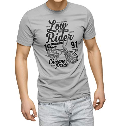 ZYDUVA Low Rider Bike Road Grey Men's T-Shirt Size L