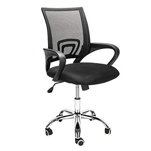 Silla de oficina cómoda silla giratoria ajustable para conferencias, reuniones de trabajo, estudio, hogar, oficina, muebles
