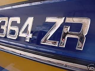 Boat & Jetski Registration Numbers - Domed/raised Decal (16 Pcs) Plain Chrome / Master Series Font Style