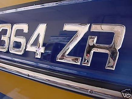 Boat & Jetski Registration Numbers - Domed/raised Decal (16 Pcs) Plain Chrome