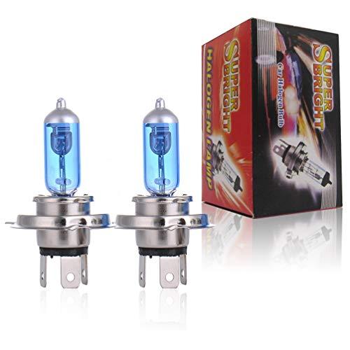 JCMY Bulbos H7 halógena xenón Faro Blanco Brillante 5000K 55w lámpara Bombilla bajo Haz para Coche, Bus, Uso automotriz. (Style : H4)