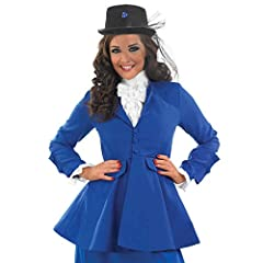 Fun Shack Womens Victorian Lady Costume Adults Blue Historical Dress Outfit - Large #1