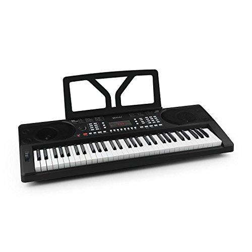 Schubert Etude 300 - teclado, piano eléctrico, 61 teclas, sensibilidad a la rapidez, 300 voces, 300 ritmos, 50 pistas demo, acordes, función de grabación, metrónomo, negro