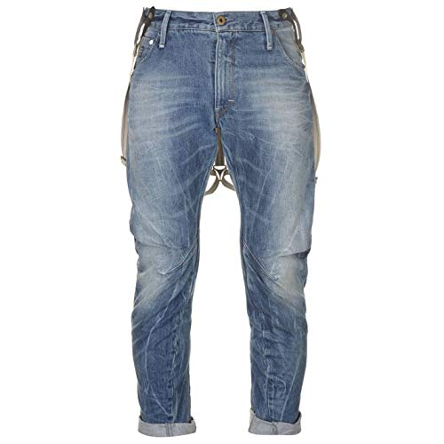 G Star Mens Arc 3D Loose Tapered Braces Jeans lt Aged t.p. 32 L36