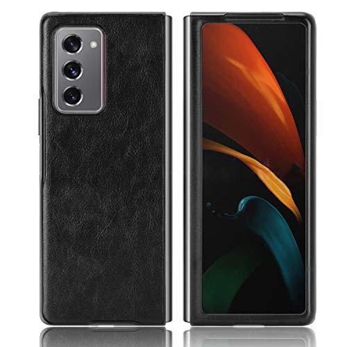 LBYZCASE Schutzhülle für Galaxy Z Fold 2 5G (2020), Galaxy Z Fold 2 Lederhülle, [schlank und leicht], ultradünn, langlebig, Schutzhülle für Samsung Galaxy Z Fold 2 5G (schwarz)