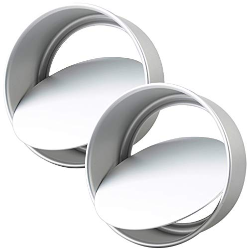 2 Pack 8-Inch Cake Pan with Removable Bottoms