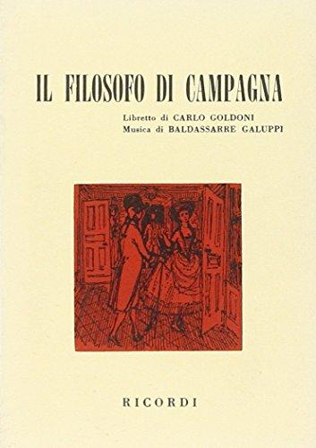 Il Filosofo Di Campagna - Libretti [Opere] - Libretto