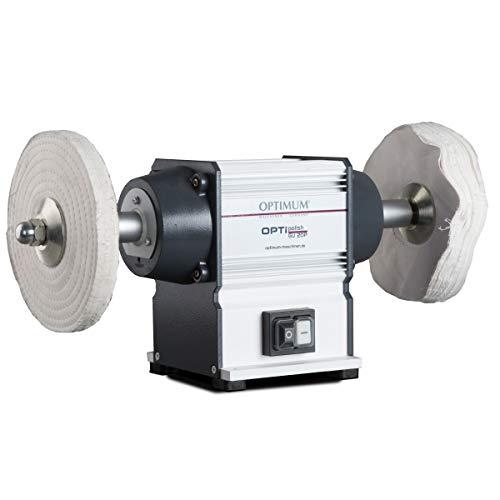 Optimum Poliermaschine OPTIpolish GU 20P (für Metall, wartungsfreier Motor 0,6 kW, 2X Polierscheiben), 3101540