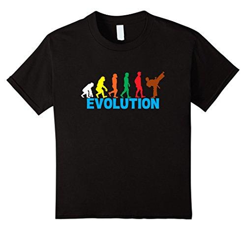 Kids Evolution Of Karate Belt Colors - Funny Martial Arts T-Shirt 10 Black