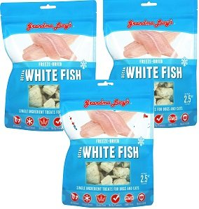 Grandma Lucy's (3 Pack) Freeze Dried Whitefish Pet Treat, 2.4 Ounces Each