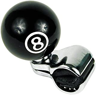 Custom Accessories 16258 Black 8-Ball Style Steering Wheel Spinner Knob